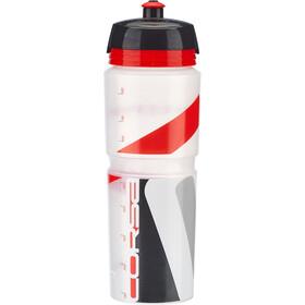 Elite Maxi Corsa MTB Bidon 1l, transparent/red